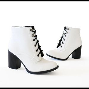 New lace up booties